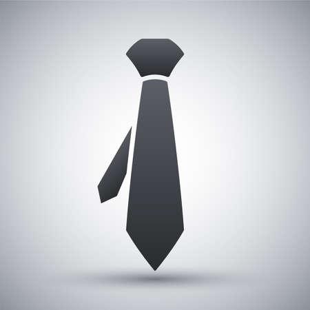 dress code: Vector necktie icon Illustration