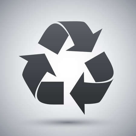 recycling plant: Vector recycle sign or icon