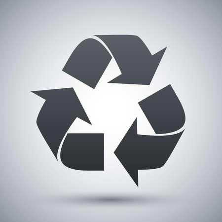 raccolta differenziata: Vettore riciclare segno o icona