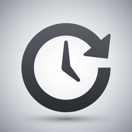 round the clock: Vector update icon
