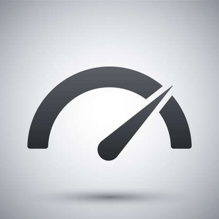 internet  broadband: Vector performance measurement icon