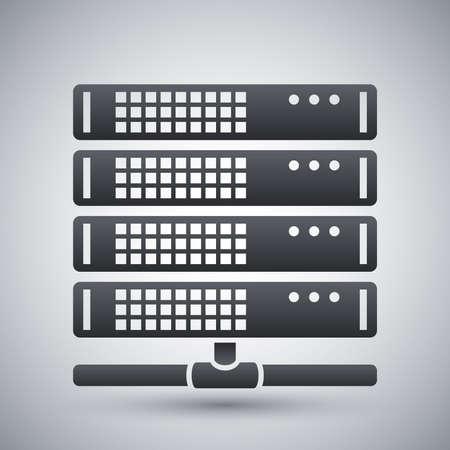 meseros: Vector icono del servidor