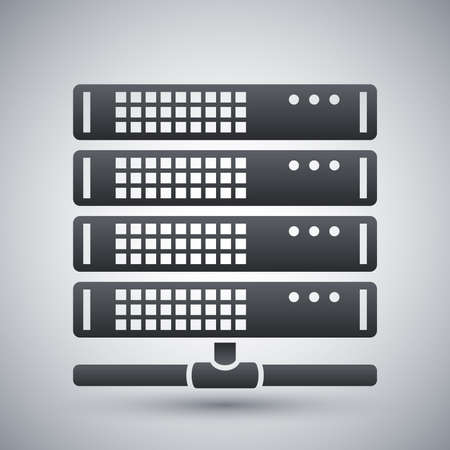 database server: Vector server icon