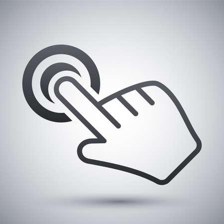 Vector click hand icon