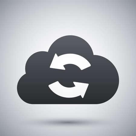 Vector cloud sync icon
