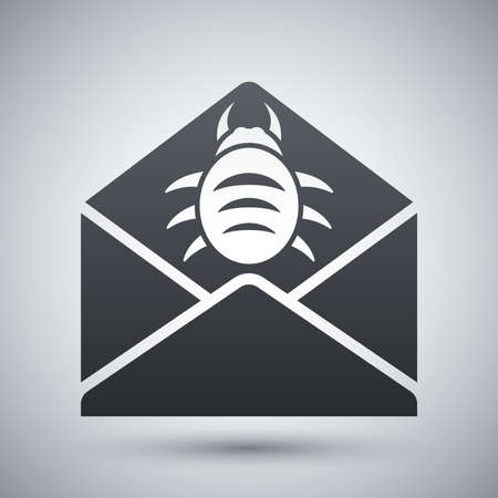 adware: Vector infected email icon