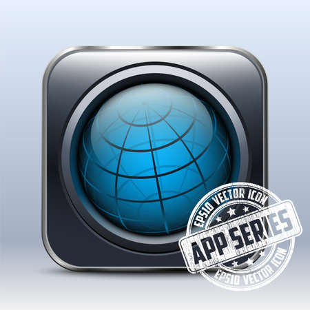 series: Abstract Globe Icon. App Series