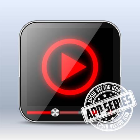 iptv: Media Player Icon. App Series