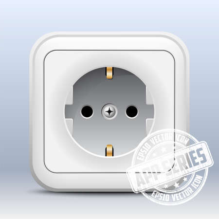 wall socket: Power outlet icon, app series