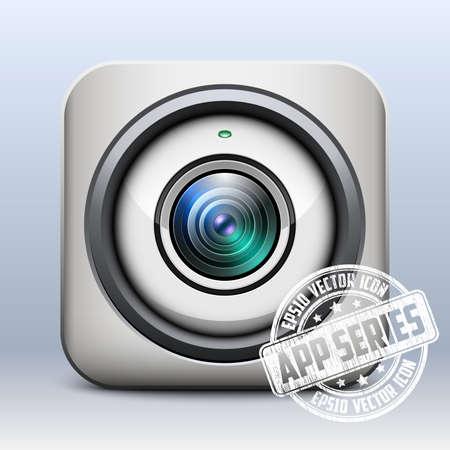 skype: Web camera icon. App series