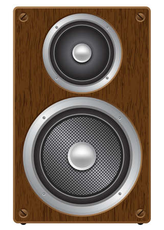 front view: Two way audio speaker, front view Illustration