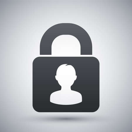 authenticate: User login or authenticate icon, vector