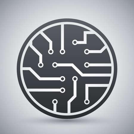 microelectronics: Vector circuit board icon