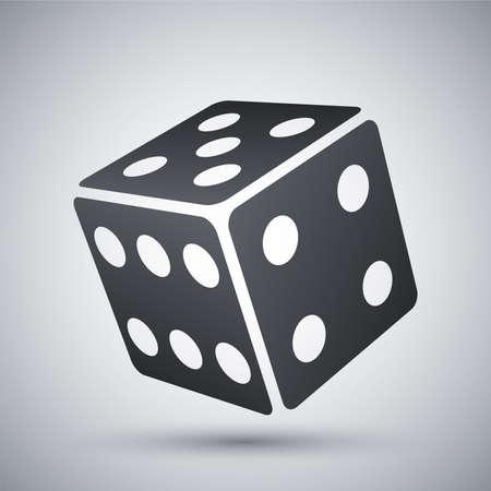 backgammon: Vector dice icon Illustration