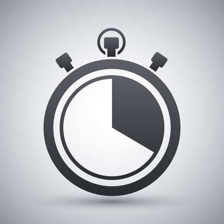Vector stopwatch icon Vectores