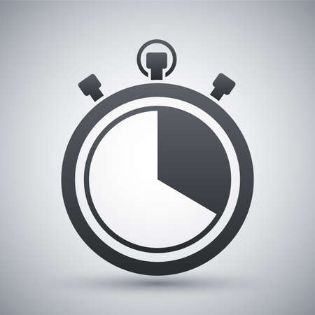 Vector stopwatch icon Stock Illustratie