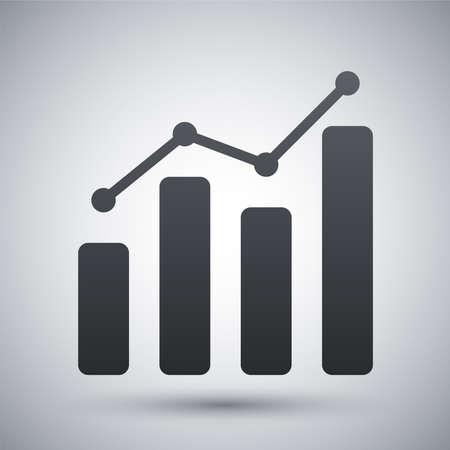 graph icon: Vector business graph icon Illustration