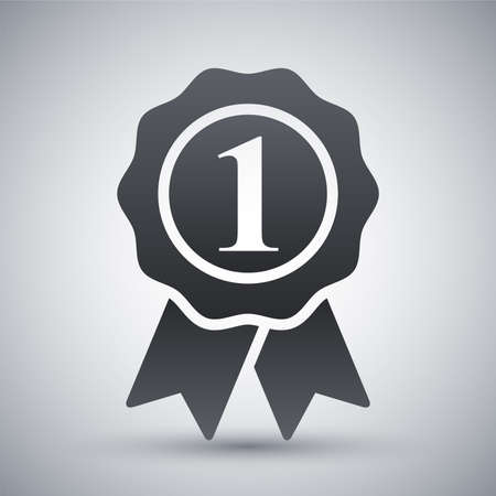 nombres: Vecteur premier lieu ic�ne