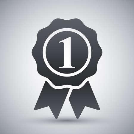 numero uno: Vector icono primer lugar Vectores