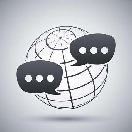 Vector global social network icon Vector
