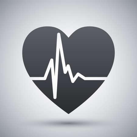 Vector cardiogramma cuore icona Vettoriali