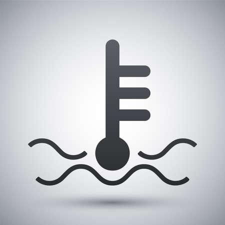 Vector motor temperature icon