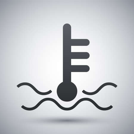 water level: Vector motor temperature icon
