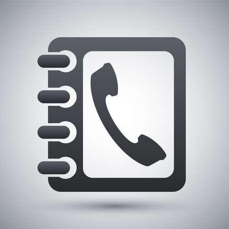 Vector phone book icon Illusztráció