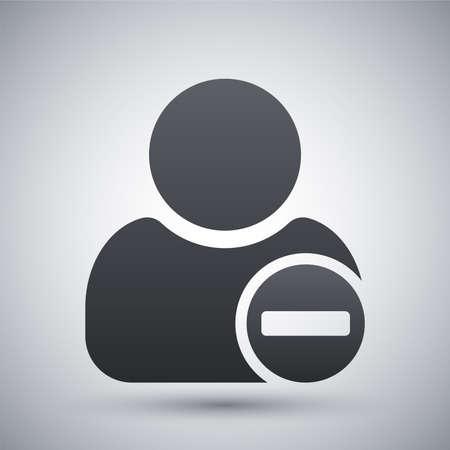minus: Vector remove user icon with minus glyph Illustration