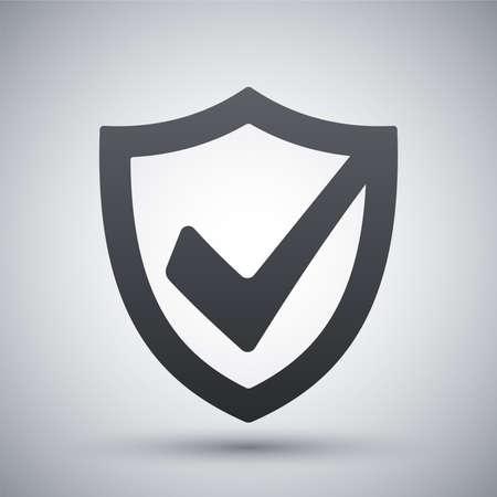 escudo: Vector icono de escudo de seguridad