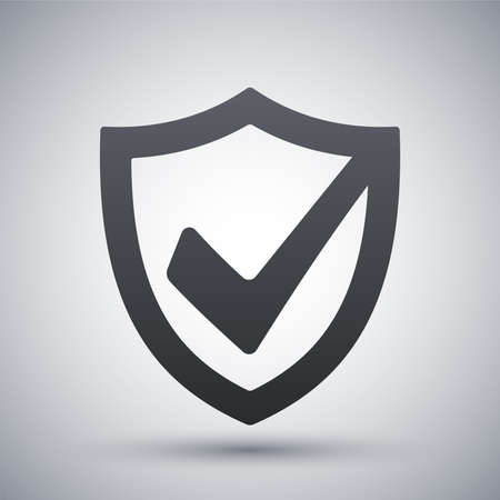 military shield: Vector security shield icon