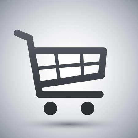 comprando: Vector icono del carrito de la compra Vectores
