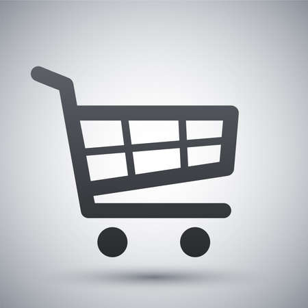 gift shop: Vector shopping cart icon