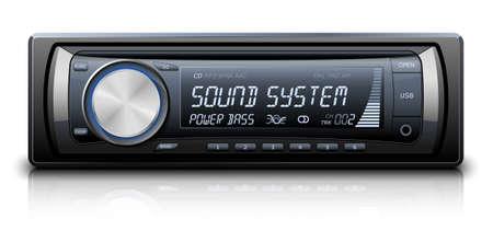 Modern Car Audio. Vector illustratie Vector Illustratie
