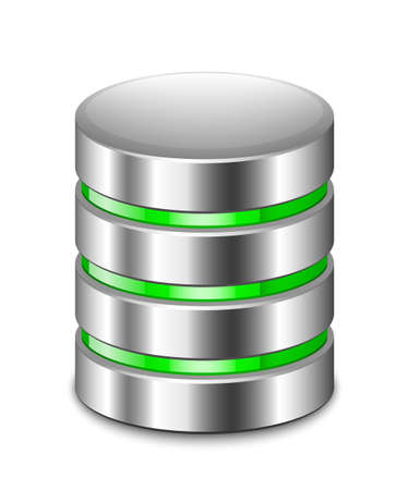 virtualization: Database Icon. Vector