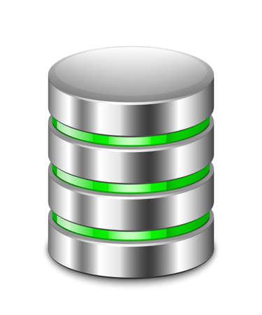 Icono de la base de datos. Vector