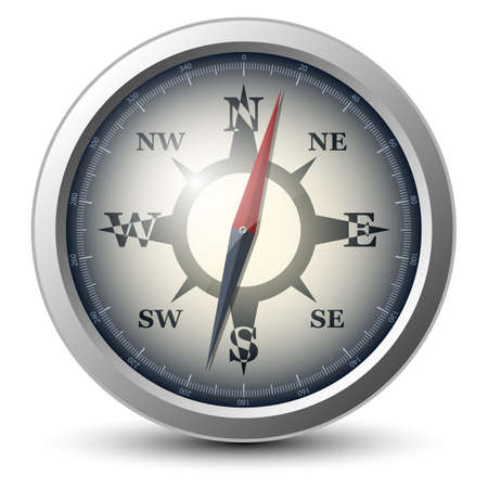 old compass: Vector compass icon