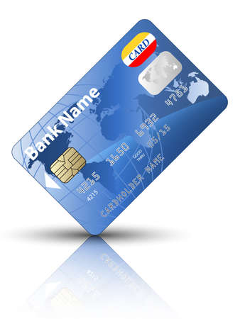 Icon of a credit card, vector Illustration