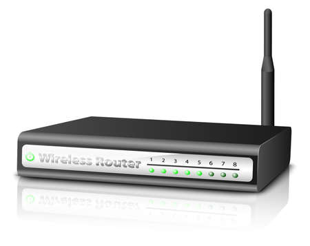 adsl: Wireless Router. Vector illustration