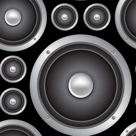 woofer: Speakers seamless background. Vector pattern