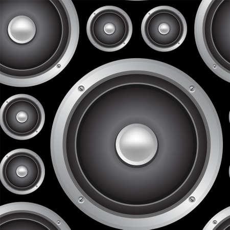 speakers: Speakers seamless background. Vector pattern