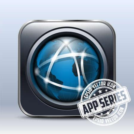 globális kommunikációs: Globális kommunikációs Icon. App Series Illusztráció