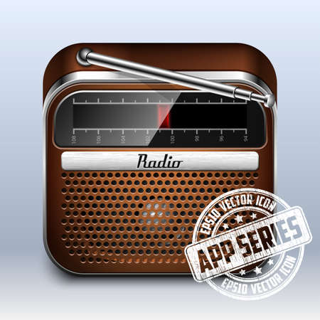 retro radio: Retro Radio Icon, App Series