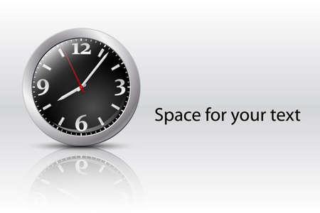 pm: Analog clock icon, vector Illustration