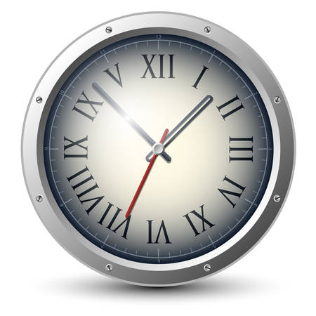 pm: Vector analog clock Illustration
