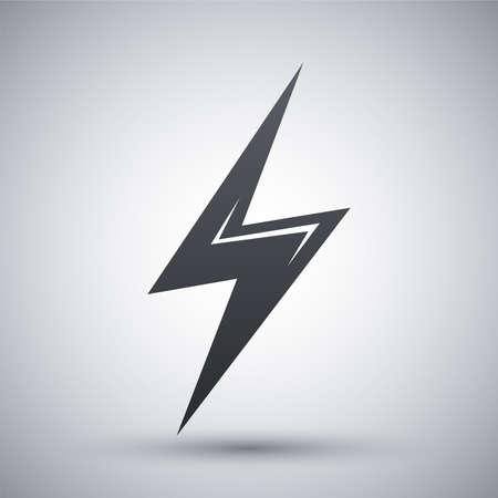 electricidad: Icono de rayo vectorial Vectores