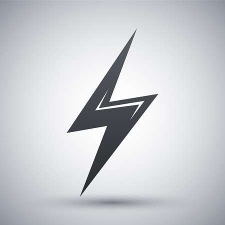 lightning storm: Vector lightning icon