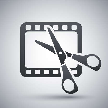 Vector video editing icon Illustration