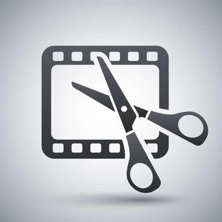 Vector videobewerking icon