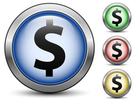 signos de pesos: Iconos de la muestra de d�lar, vector